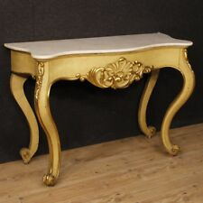 Console Lacquered Furniture Italian Table Wood Level Marble Antique Style