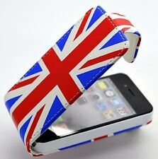 iphone 4 & 4 s Union Jack Design PU Leather Flip Case Cover