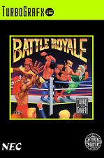 BATTLE ROYALE turbo grafx 16 incorniciato stampa (MAN GROTTA Picture Game Videogame ART)