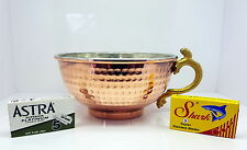 Copper Shaving Bowl  Mug  Cup for Shaving Brush and Safety Razor. Astra gift
