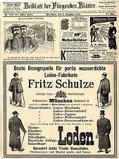 F. Schulze München ächte Tiroler Loden A. Pieper Moers Fangeisen f. Raubzeug1893