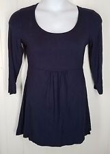 Boden navy blue solid 3/4 sleeve mini Dress womens UK 12 US 8