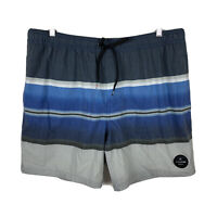 Quiksilver Mens Board Shorts Size 2XL (36-40) Swim Shorts Elastic Waist Striped