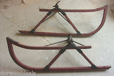 Buggy Wagon Model T Ford? Accessory Snow Skis Wood Set Of 2   -  MS334