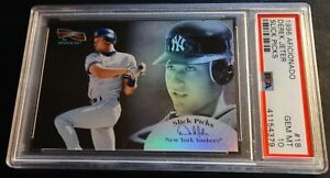 1996 DEREK JETER AFICIONADO SLICK PICKS ROOKIE #18 PSA 10 YANKEES POP 9 (468)