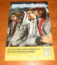 Gym Class Heroes Poster Original Promo 17x11 RARE