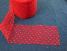 "Vintage Red 6"" Wide Tulle with Polka Dot Pattern Gorgeous"