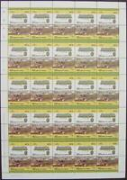 1922 G&SWR Class 540 BALTIC (LMS 5P) Train 50-Stamp Sheet (Leaders of the World)