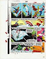 Original 1986 Captain America 324 page 20 Marvel Comics color guide art: 1980's
