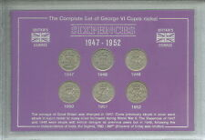 More details for 1947-1952 king george vi sixpence sixpences coin collector collection gift set