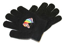New Kids Horsehead Pattern Pimple Grip One Size Fits all Black Gloves  Childrens