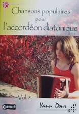 Accordéon diatonique Tablatures Chansons populaires v.8 neuf avec CD