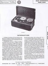 BRUSH SOUNDMIRROR BK403 Tape Recorder's Service Manual 1949 Photofact EXC COND'N