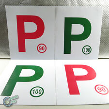 4x Magnetic Red P P1 Green P2 Plate Provisional Magnet Driver License,sell L too