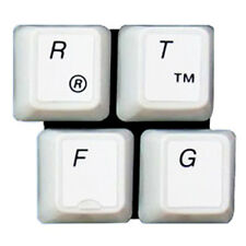 HQRP QWERTY PC Laptop Keyboard Stickers English Black Letters