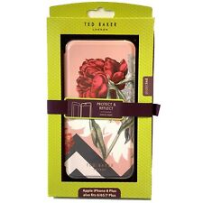 LARGE Ted Baker IPhone 8 7 6 6S PLUS Floral Pink Emmare Cover Full Folio RRP £45