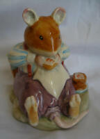 Royal Doulton - Brambly Hedge Mouse Mice Figurine - DBH 46 - Mr. Toadflax