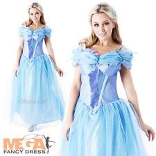 Princess Cinderella Ladies Fancy Dress Disney Live Action Adults Costume Outfit