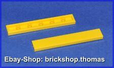 Lego 2 x Fliese gelb (1 x 6) - 6636 - Tile Tiles yellow - NEU / NEW
