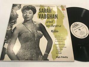 """Sarah Vaughan Royale 10"""" Record LP 18129 Soul Blues"""