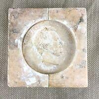 Antique  Bois Durchi Factory Mold Plaster Cast Plaque Italian Portrait