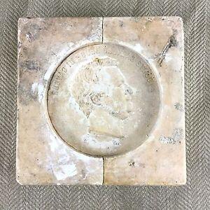 Antico Legno Durchi Fabbrica Stampo Plaster Cast Placca Italiano Ritratto Cammeo