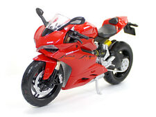 Ducati 1199 Panigale 1:12 Red Maisto Diecast Scale Model Bike scaleartsin
