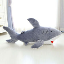 New large Great Grey Shark Cuddly Soft stuffed Animal plush toy 50cm Gift