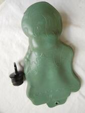 Seiberling Latex rubber SMALL HOT WATER BOTTLE Doll/Child sz Cartoon GREEN AQUA