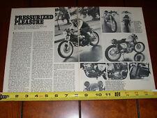 1973 HONDA CB750 TURBOCHARGED CAFE RACER - ORIGINAL 1974 ARTICLE