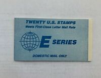 SCOTT#2282A US BOOKLET E SERIES 20 STAMPS MINT NH FVF OG First Class Letter Rate