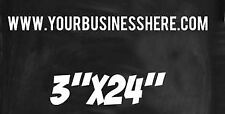 "x1 Vinyl Decal 24 "" Your Text Web Site Lettering Name Business Personalized"