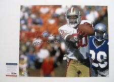 JERRY RICE signed/autographed SAN FRANCISCO 49ers 16x20 Photo w/HOF 2010 - PSA