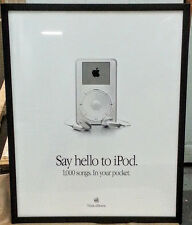 Original Vintage Apple iPod Advertisement Art Poster, 1st Gen 5GB, 2001