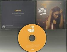 NORAH JONES Carry On ULTRA RARE PROMO Radio DJ CD single w/ PRINTED LYRICS