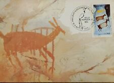 A) 1985, BRAZIL, DEER, ROCK PAINTING, FIRST DAY COVER, ECT, BELO HORIZONTE