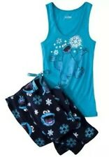 Sesame Street Cookie Monster Pajamas 2 PC Costume Tank Non Footed 2X NWT LASTONE