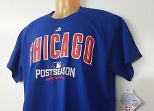 NWT Chicago Cubs Baseball MLB T-shirt Tee 2016 Post Season Medium M Blue Cotton