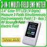 TM-190 EMF Meter TM190 Gauss 3-axis Magnetic Electric RF Field Strenght Taiwan
