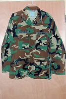 Size Large Mens BDU Shirt Jacket Coat Woodland Camo L US USGI Army Green Field 2