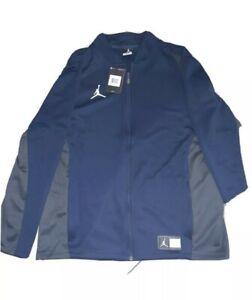 NEW Jordan Flight Knit Full Zip Training Jacket Men's SZ Small Navy Blue