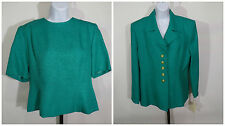 Women's Jade Green Blazer Suit Top Size 12 Henry Lee Polyester NWT New $194
