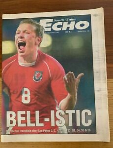 THREE WALES Glossy Colour Posters (inc Wales-England) + Wales v Italy NEWSPAPER