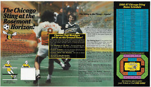 RARE 1986-87 MISL Chicago Sting Ticket Info PRO Soccer With Schedule !!!