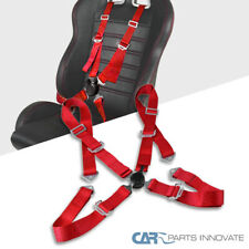 Red 4-Point Camlock Saftey Seat Belt 4PT Racing Harness