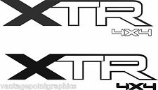 XTR 4X4 Truck Bed Decals, (Set) for Ford F-150, F-250, F-350 and Super Duty