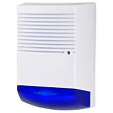 Dummy Burglar Alarm Bell Box - Battery Powered - Dummy Alarm Siren - Blue Lens