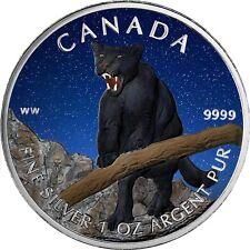 Kanada 5 Dollar Silber Puma 2012 Wildlife Silbermünzen Serie in Farbe