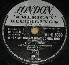 FATS DOMINO ~ SO LONG b/w WHEN MY DREAM BOAT COMES ~ 78 RPM E EXCELLENT GRADE