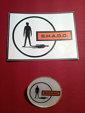 UFO - SHADO HIGH QUALITY GOLD PLATED BADGE & FREE  S.H.A.D.O.  STICKER